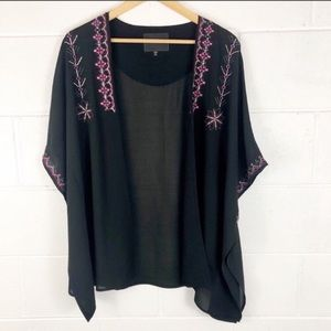 Sanctuary Tapestry Embroidered Kimono Jacket